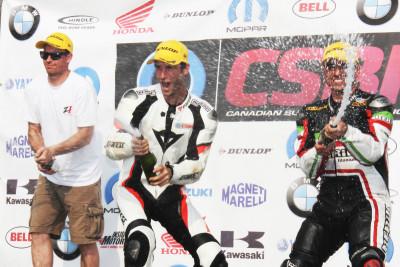 CSBK 2015 Rd 4 race - Edmonton, Podium first position