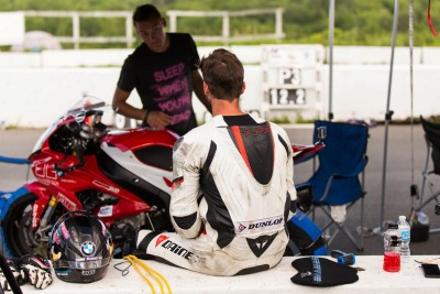 Having a little talk with Herve about the last session