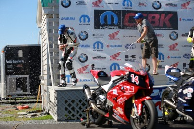 Blysk Racing Rider - Samuel Trepanier on second position at CSBK round 5 Shubenacadie 2015