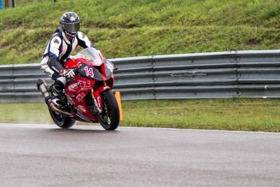Samuel Trepanier at Mosport in wet condition